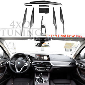 Details About 9pcs With Matte Black For Bmw 5 G30 Carbon Fiber Interior Trim 2017 2018 Up Lhd