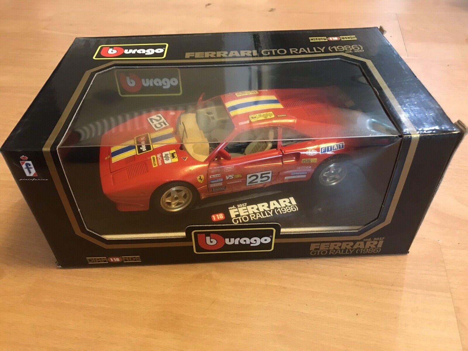 Burago 1 18 Scale Ferrari GTO RALLY (1986) 3057 Rare