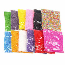 NEW Assorted Colors Polystyrene Styrofoam Filler Foam Mini Beads Balls Crafts