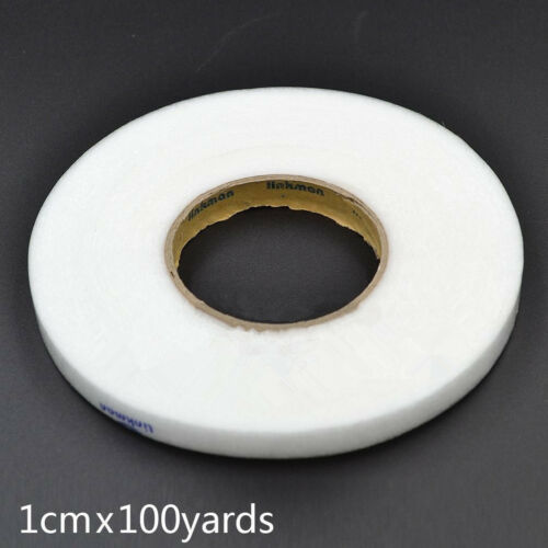 Sewing Double Sided Adhesive Tape DIY Fabric Fusible Interlining White Iron