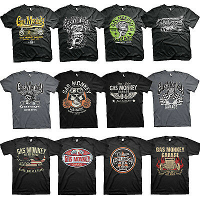 Officiellement Marchandises sous Licence Gas Monkey Logo Unisexe Enfant T-Shirt Ages 3-12 Ans