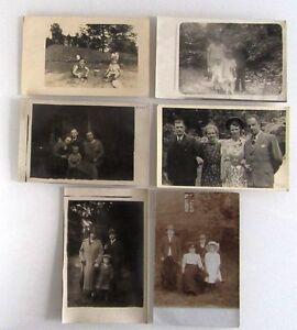 Postkarten-Lot-Echtfoto-AK-Sammlung-6-Personen-Maenner-Frauen-Kinder-1910-1940