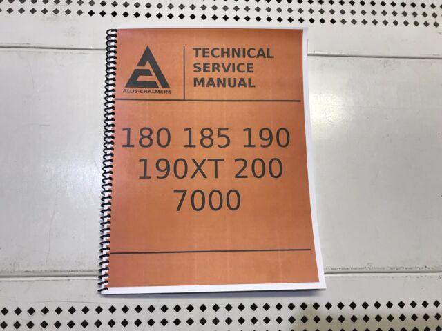 ALLIS CHALMERS CA TRACTOR SERVICE REPAIR TECHNICAL SHOP MANUAL OVERHAUL