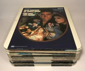 Lot-Of-21-Vintage-VideoDiscs-RCA-SelectaVision-CED-Comedy-Action-Media