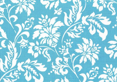 Mill Creek Fabric  Wexford   Lagoon    Blue  White  Outdoor  Drapery Upholstery