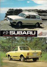 Subaru 1600 4WD Leone 1978-79 UK Market Foldout Sales Brochure Estate MV Pick-Up