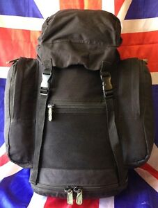 Genuine-British-Army-Black-30L-Patrol-Field-Day-Pack-Rucksack-or-Bergen-Grade-A