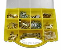200 Pc Fastener Picture Wall Hanging Hooks Nail Wire Kit