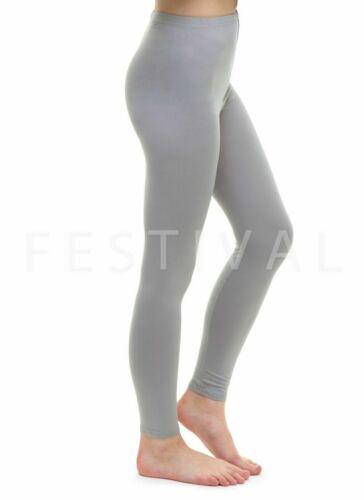 Womens Ladies Full Length Cotton Leggings Size 6 8 10 12 14 16 18 20 22 24 26