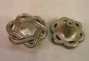 8 Vintage Style Large White Brass Knobs Handles Pulls ...
