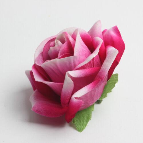 10 Pieces Champagne Artificial Velvet Rose Flowers Head Wedding Party Decoration