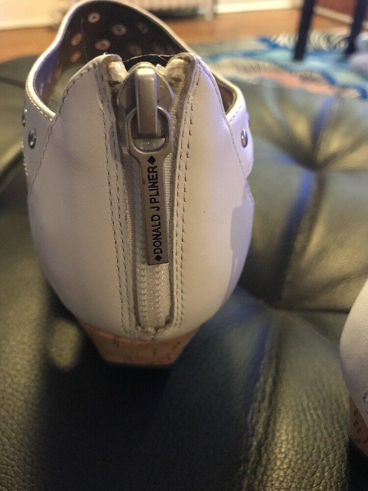 Donald J Pliner Leder Embossed Patent  Leder Pliner Sandals 10 f7fe34