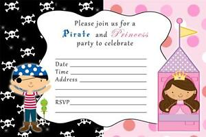 40 Pirate Princess Birthday Invitations For Kids Girl Or Boy Joint