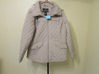 London Fog Womens Qulited Coat-zippered Front-size-xxl-color-khaki