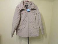 London Fog Womens Qulited Coat-zippered Front-size-xxl-color-khaki