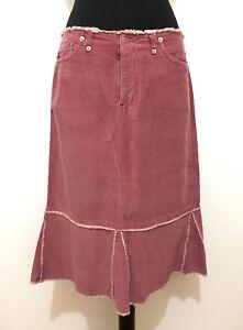più economico 65794 88186 Dettagli su FIORUCCI Gonna Donna Velluto a Coste Velvet Cotton Woman Skirt  Sz.S - 42