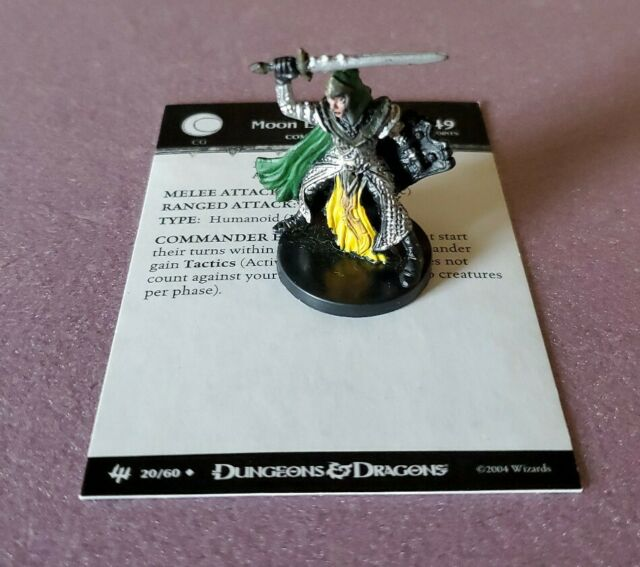 Dungeons & Dragons ARCHFIENDS MOON ELF FIGHTER #20, With
