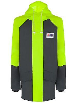 Stormline Hi Viz 100/% PVC Waterproof Workwear Jacket Two tone work jacket