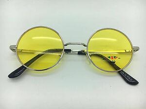 17ff1e0fcb1738 Silver Frame With Coloured Lenses John Lennon Type Round Sunglasses ...