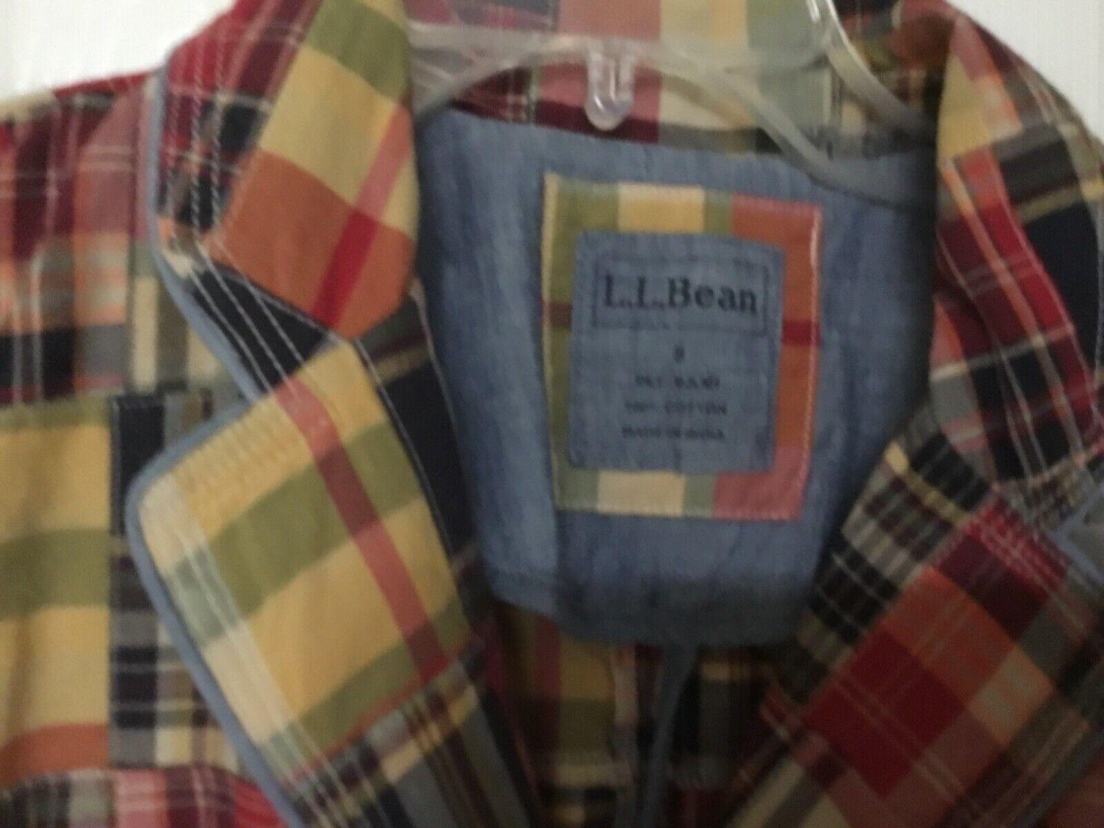 LL Bean Women's Blazer Patchwork Cotton Jacket Mu… - image 2