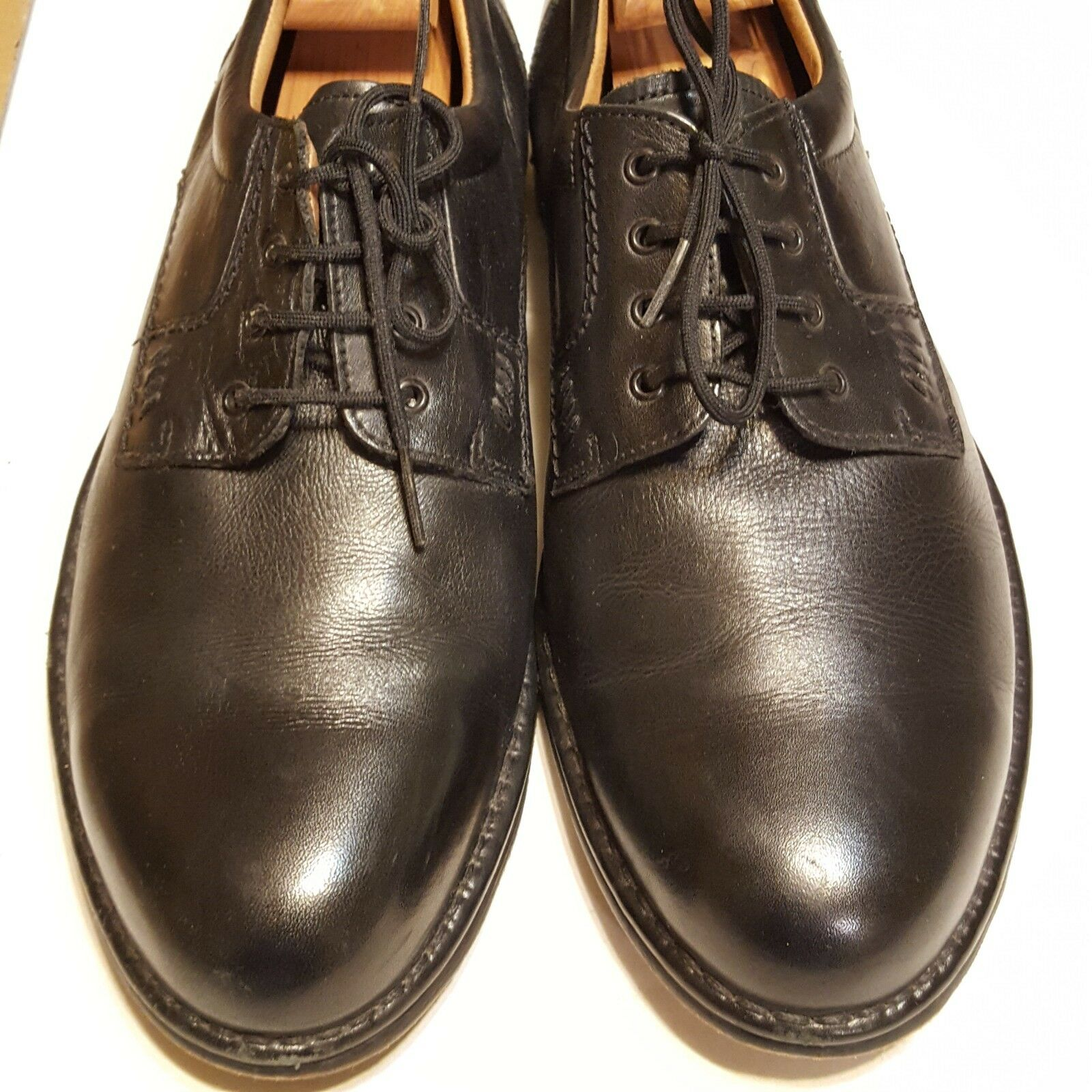 C&a homme Westbury Premium Chaussures En Cuir Oxford Noir Taille 12.5 48 C UE
