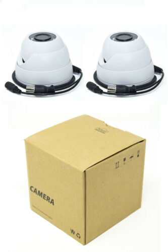 2x 4MP Outdoor CCTV Security Camera 3.6MM Fixed HD-CVI IR Eyeball Dome OEM Dahua
