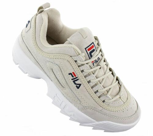 179d90c186d1d Deportivas Zapatillas Gris De Cuero Low S Disruptor Leather Mujer Fila  Zapatos OncxTZUw