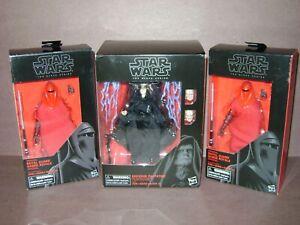 Star Wars Black Series NEW Amazon EMPEROR PALPATINE w/ Throne & #38 Royal Guard