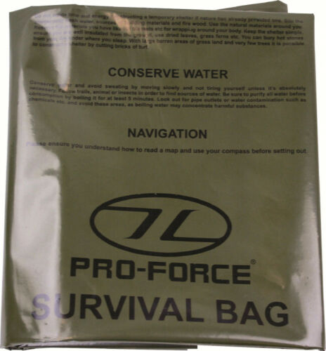 Survival Bivvi Bag Green.