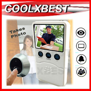DIGITAL-DOOR-BELL-CAMERA-amp-MONITOR-Takes-Photo-When-Bell-Pressed-DIY-SECURITY