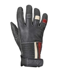 Triumph-Raven-Gloves-Black-Leather-Motorcycle-Gloves-NEW-MGVS17322