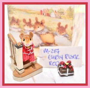 ❤️Wee Forest Folk M-217 Early Riser Red Pajamas Stairs Boy Mouse Retired WFF❤️