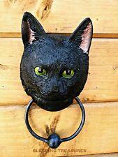 LUCKY BLACK CAT DOOR KNOCKER. VERY DIFFERENT. GREAT GIFT FOR CAT LOVER