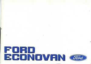 FORD-ECONOVAN-Betriebsanleitung-1989-Bedienungsanleitung-Handbuch-Bordbuch-BA