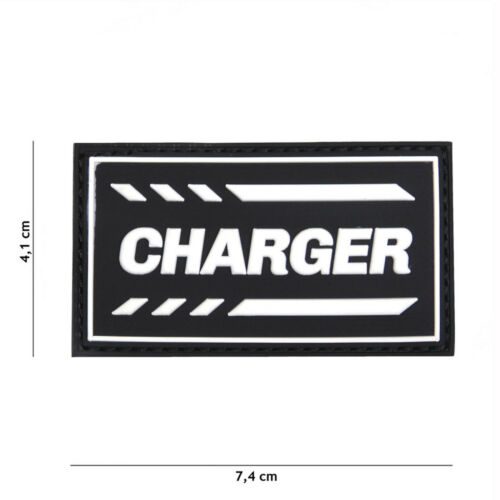 Charger Nero #19038 PATCH DISTINTIVO Velcro Airsoft Paintball Softair