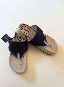 NEW Animal Swish Upper Mid Navy Blue rose gold women/'s flip flops sizes 4-8