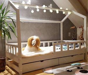 Lit-cabane-Lit-pour-enfants-lit-d-039-enfant-lit-cabane-avec-tiroir-amp-barriere
