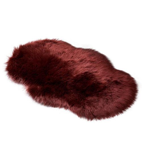 Sheepskin Shaggy Area Rug Fluffy Soft Wool Floor Carpet Fur Hairy Mat Bedroom