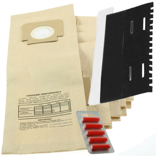 3 5 x H4 H18 Bags for HOOVER Turbopower 2 5 Fresheners Filter Set