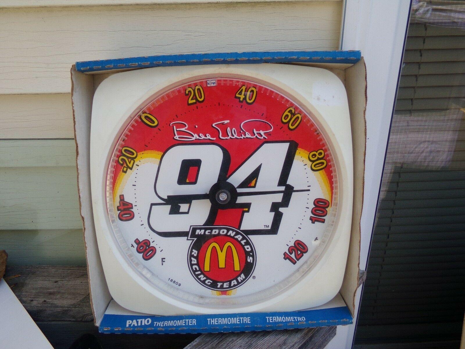 New Bill Elliott Thermometer  USA NASCAR