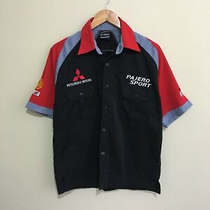 Pajero-Sport-Mitsubishi-Motors-Ralliart-Pit-Shirt-Mens-Large
