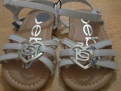 NWT Girls Sandals Cherokee Jory White Patent Pink Strawberry 5 6 7 9