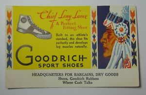 Vintage-1950s-Goodrich-Basketball-Shoes-Indian-Chief-Logo-Advertising-Blotter