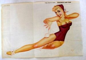 1950s-Esquire-Magazine-Centerfold-Pin-Up-The-Petty-Girl-Blond-on-Phone