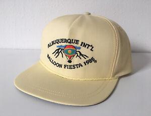 Vintage-Rare-1985-Albuquerque-Balloon-Fiesta-Hot-Air-Balloon-Yellow-Hat-Cap-80s