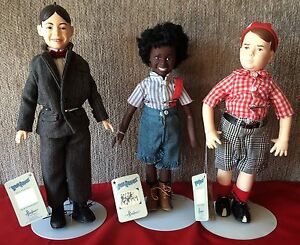 Set-of-3-Little-Rascals-Our-Gang-Collector-Dolls-1989-Effanbee-King-World