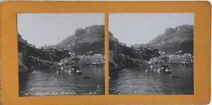 Monaco-Vista-Generale-Il-Port-Hercule-Foto-Stereo-Vintage-Analogica