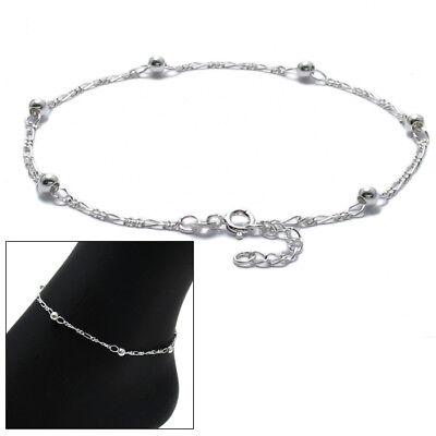 925 Sterling Silver 1.5mm Antiqued Finish Bracelet Anklet 9 1.5 Extender