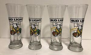 Set-of-4-Bud-Light-Spuds-McKenzie-Football-7-25-Pilsner-Glasses