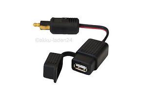 USB-Ladekupplung-Ladegeraet-fuer-Motorrad-12V-Bordnetz-mit-kleinen-Normstecker